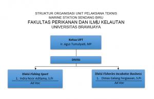 Struktur Organisasi UPT Marine Station